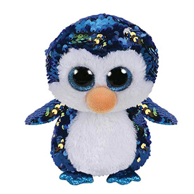 ddb8d488cfe Ty Beanie Boos Big Eyes Sequins Penguin Seal Fox Unicorn Owl Lion Unicorn  Bat Plush Toy Doll Stuffed Animal Plush Kid Toy