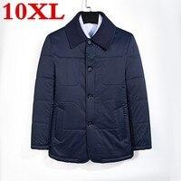 Большие размеры 10XL Костюмы зимняя куртка Для мужчин Теплые повседневные парки хлопок отложным воротником зимняя куртка мужской Мягкий Пал