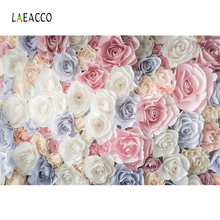 Laeacco Artifical Flowers Wall Baby Party Wedding Photography Backgrounds Customized Photographic Backdrops For Photo Studio