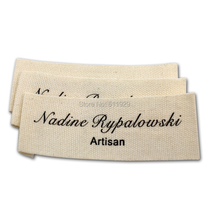 Customized garment clothing labels/printed cotton label/Trademark manufacture woven&printed tags/collar labels Free Shipping