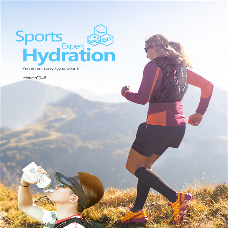 Lightweight 10L Hydration Backpack Pack Rucksack Bag Water Bladder Hiking Running Marathon Race Cycling Backpack AONIJIE C948 - 6