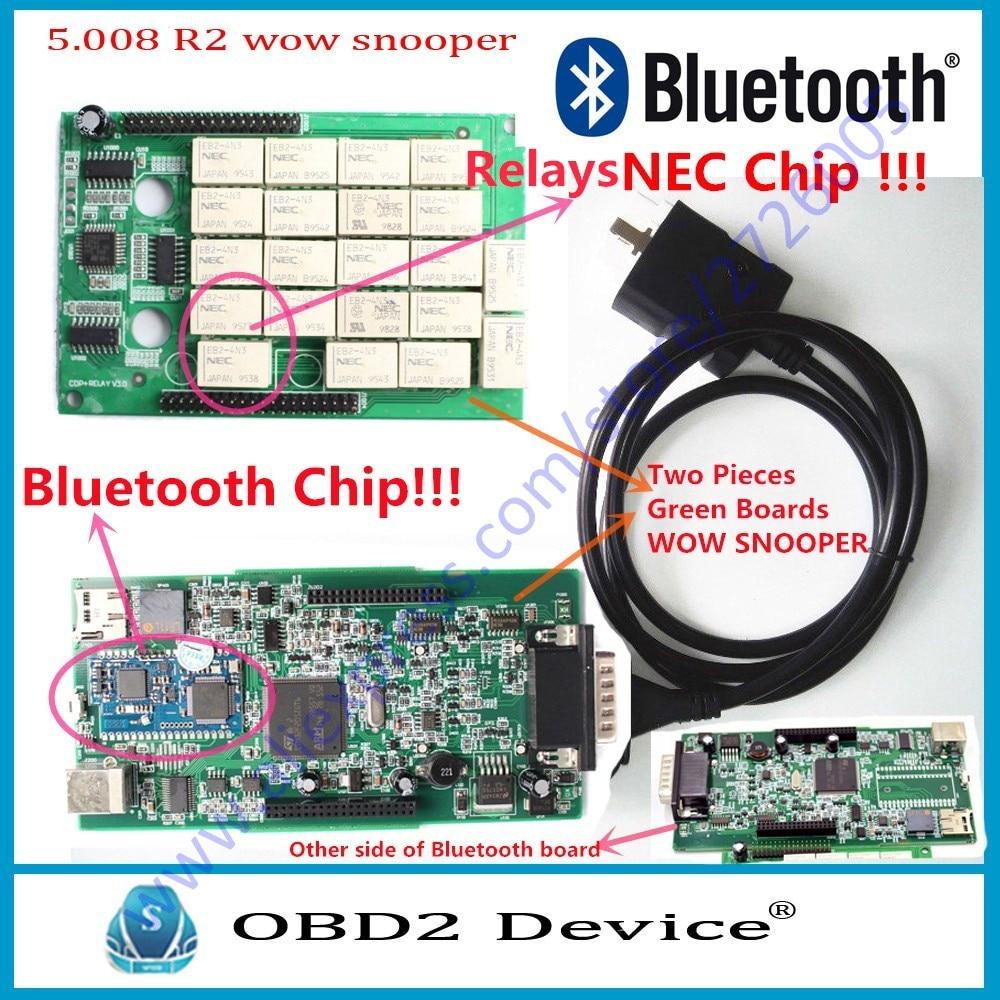 Одежда высшего качества WOW <font><b>snooper</b></font> двойная зеленая pcb CDP TCS автомобиля инструмент диагностики wurth WOW V5.00.8 Программы для компьютера WOW <font><b>snooper</b></font> сканер Б&#8230;