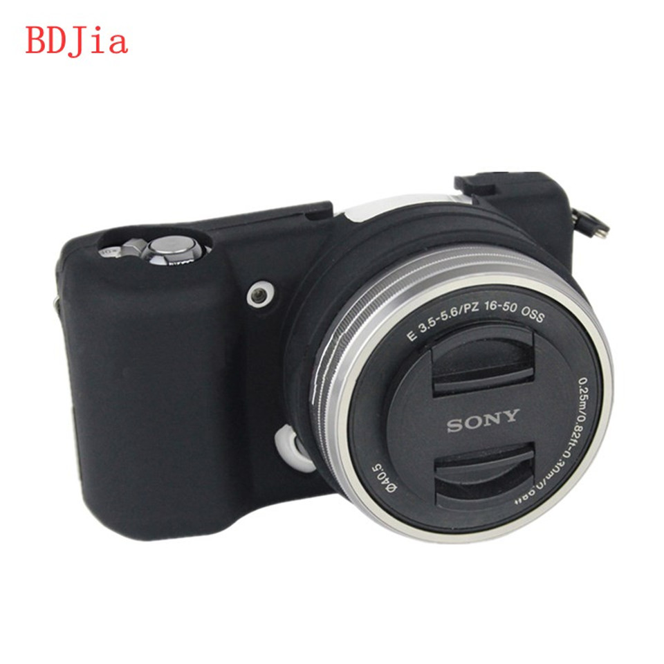 Hot Sale Silicone <font><b>Camera</b></font> <font><b>Case</b></font> Bag Cover for <font><b>Sony</b></font> <font><b>Alpha</b></font> A5100 <font><b>A5000</b></font> 16-50mm Lens In 5 Colors,Free Shipping image