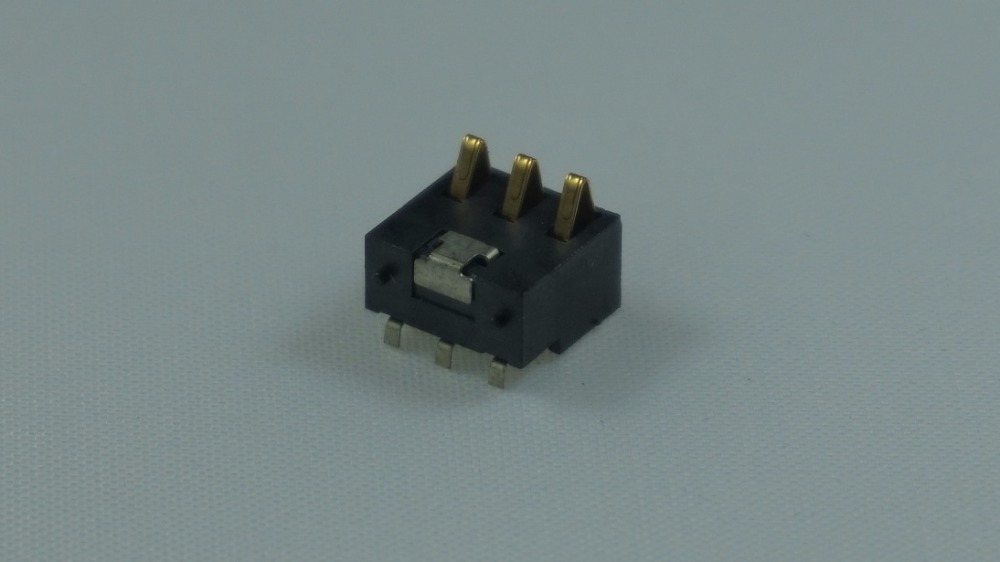 Spring Battery Connector 3 Pins 2.50mm pitch 7.0mm Height with locators 0.5A 50V rated reflow soderable