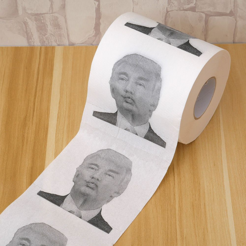 1 Roll Donald Trump Humour Toilet Paper Roll Funny Novelty Gag Gift Dump With Trump Wedding Party Birthday Decoration