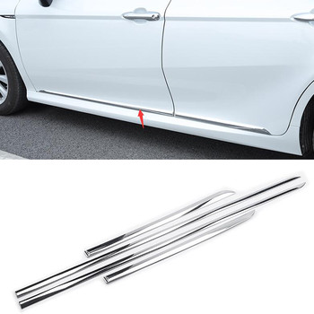 YAQUICKA Chrome ABS Car Body Side Door Molding Line Cover Trim Garnish For Toyota Camry 2018 Car Styling Exterior Accessories