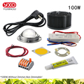Светодиодный светильник COB для выращивания растений  100 Вт  200 Вт  300 Вт  светодиодный светильник полного спектра для выращивания растений