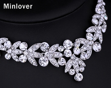 Silver Color Crystal Bridal Jewelry Sets