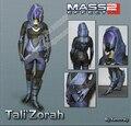 DIY Mass Effect Tali Character Paper Model
