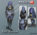 Modelo de Papel DIY Personagem de Mass Effect Tali