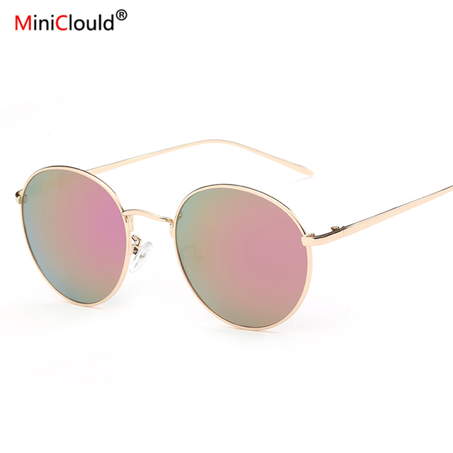 1921f8d2dd95a Vintage Round Sunglasses Oculos Redondo Small Sunglasses Retro Round  Sunglasses Women Blue Red Pink Glasses Shades