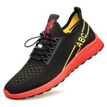 цена на Men's Summer Shoes 2019 New Plus Size 38-44 Comfortable Men Casual Shoes Mesh Breathable Loafers Flats Shoes Footwear DA0153