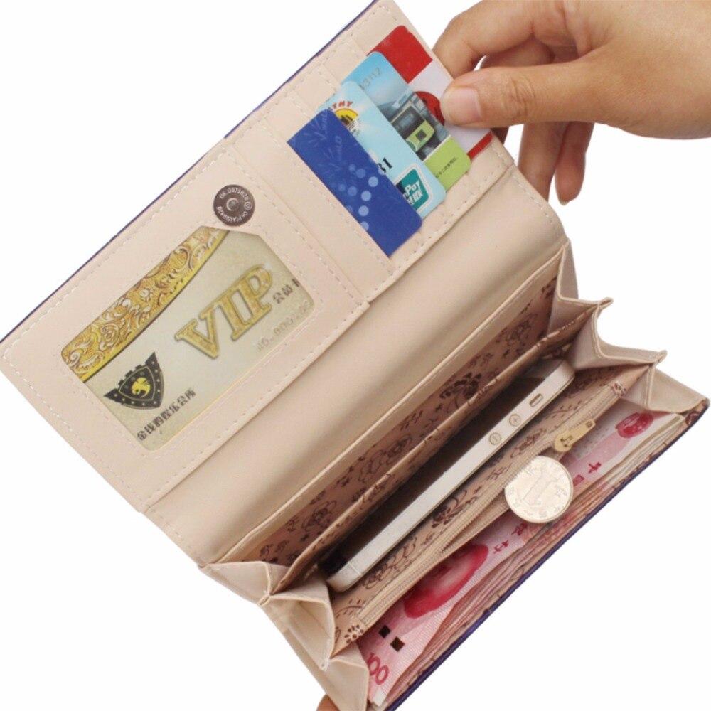 Leather Women Clutch Wallet Long Card Holder Purse Handbag THINKTHENDO 2018 Women Lady Creative Pocket 18x9x2.5cm thinkthendo women leather card phone holder long arrow wallet checkbook tassel handbag purse