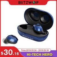 Blitzwolf FYE5 Bluetooth 5.0 Wireless True Earphone TWS Sport Earbuds 10M Connection Stereo Earphone IPX6 Waterproof Blue Black
