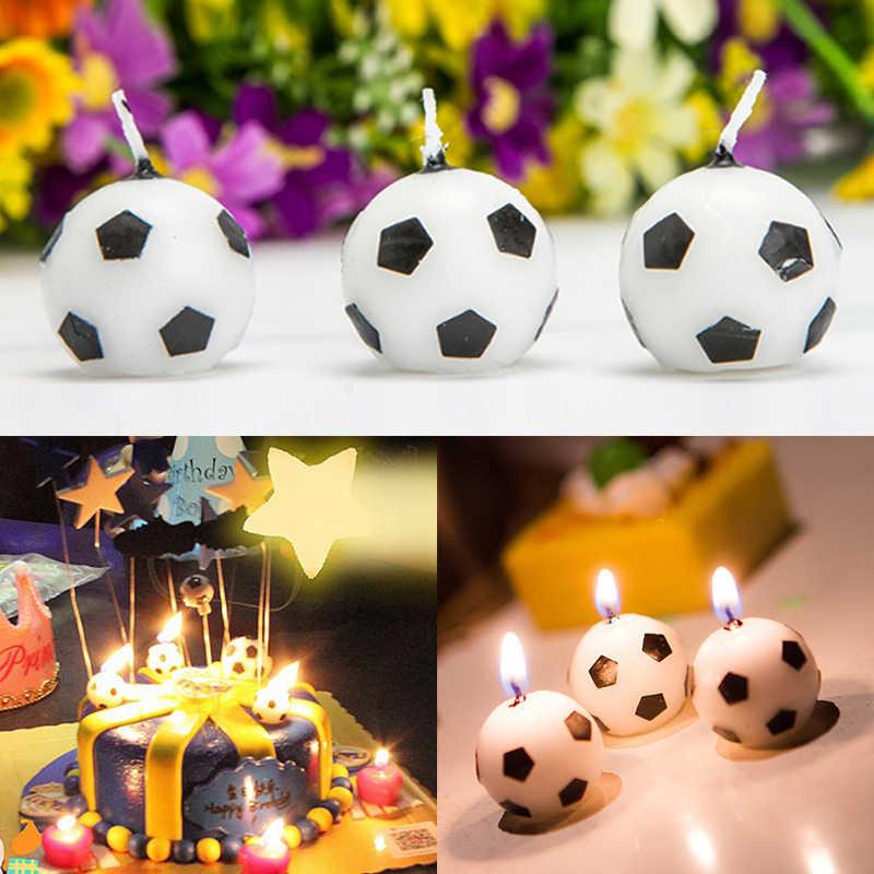 Персональный мальчик футбол свеча вентилятор ремесло свечи для торта магазин выпечки украшения вечерние праздничные поставки