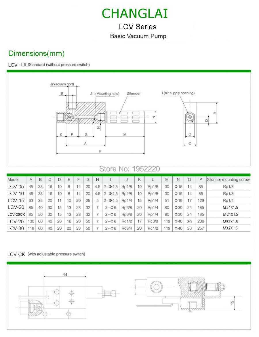 6 mm Di/ámetro en tipo de hilo de Air con ventosa de filtro para aspiradora zfc100-06-b 2 piezas