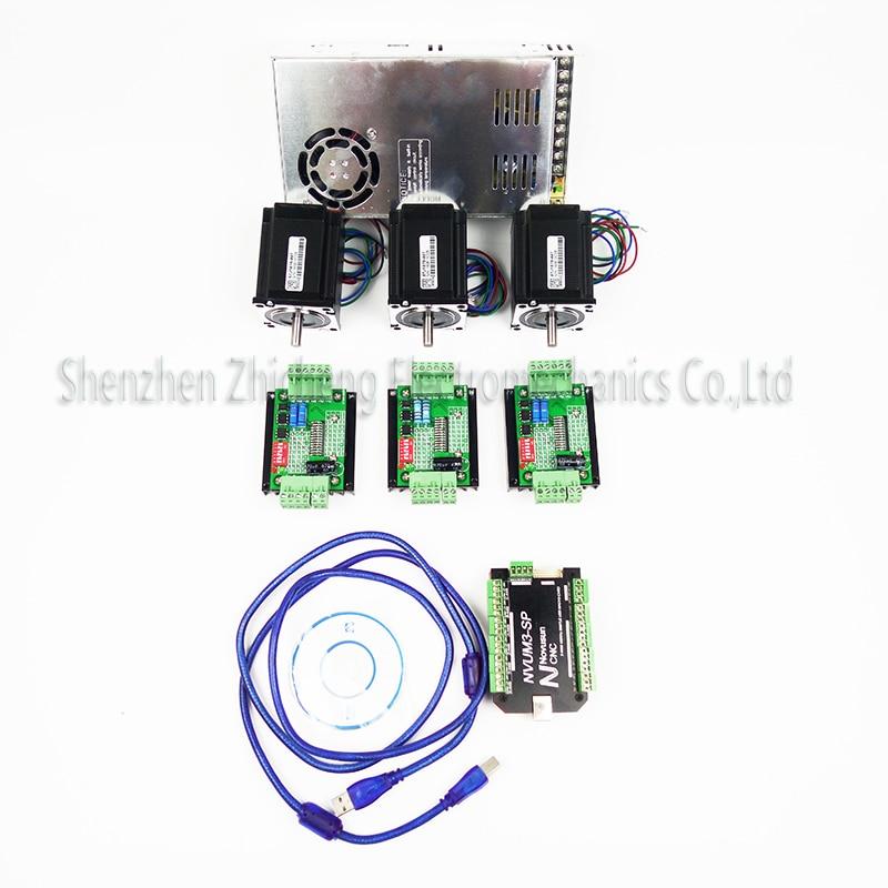 top gradeCNC mach3 USB 3Axis Kit, 3pcs TB660 0stepper driver+ mach3 USB stepper motor controller board 3pcs nema17 motor powers ножницы для живой изгороди 10 truper tb 17 31476