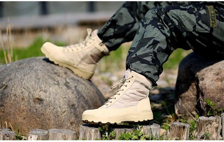 Homens deserto militar tático botas masculino ao