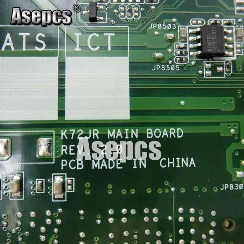Asepcs K72JT ノートパソコンのマザーボード K72JR K72JT K72JU K72J K72 テストオリジナルマザーボード HD6370 4 * メモリ