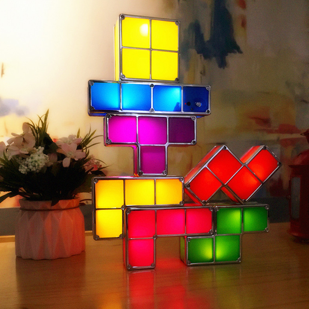 Design Original Tactbit lumière Constructible bloc Table lit décoratif empilable veilleuse nouveauté magique cube cadeau de noël - 4