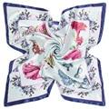 CN-RUBR 90*90cm Silk Scarf 2017 New Spring Brand Women Silk Scarf Women Luxury Fashion Girl Flower Butterfly Perfume Silk Scarf
