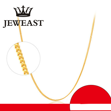 24K Pure Gold Necklace Real AU 999 Solid Gold Chain Smooth Beautiful Upscale Trendy Classic Party Fine Jewelry Hot Sell New 201824K Pure Gold Necklace Real AU 999 Solid Gold Chain Smooth Beautiful Upscale Trendy Classic Party Fine Jewelry Hot Sell New 2018