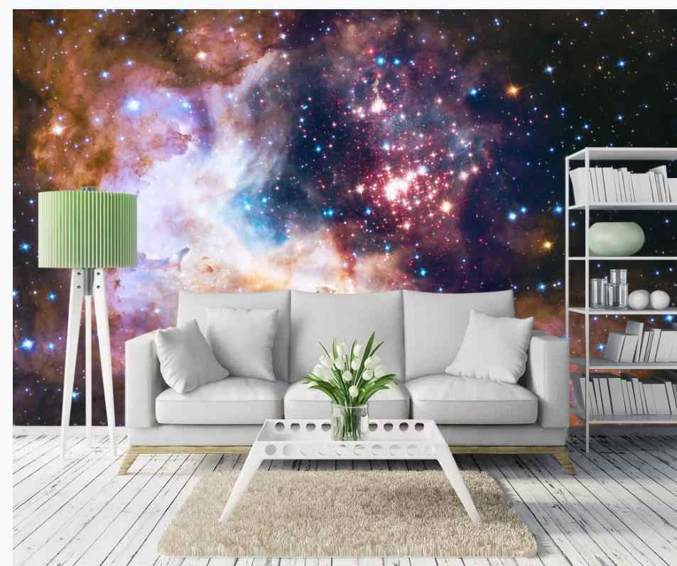 3D Wallpaper Mural Decor Photo Backdrop Dazzling Starry Beautiful Dreamy Galaxy Cosmic Galaxy European Background Wall Painting