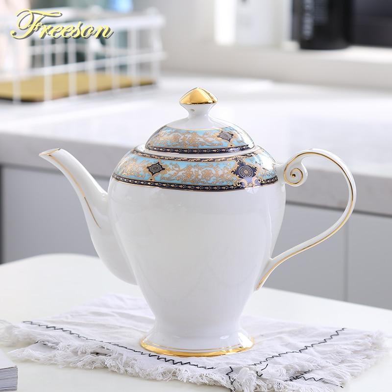 British Royal Bone China Tea Pot Europe Top-grade Porcelain Coffee Pot 1000ml Cafe Teatime Ceramic TeapotBritish Royal Bone China Tea Pot Europe Top-grade Porcelain Coffee Pot 1000ml Cafe Teatime Ceramic Teapot