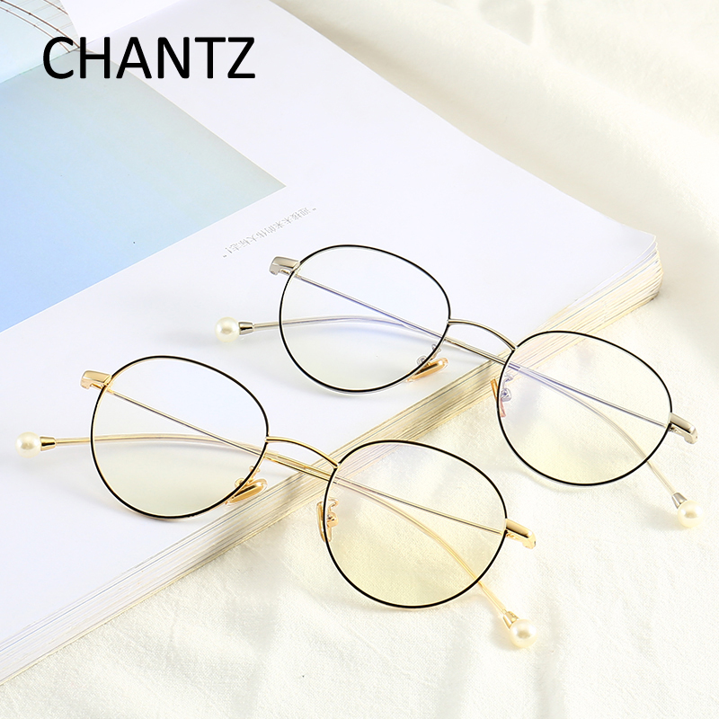 Fashion Round Glasses Frame Women Lunette Femme Vintage Metal Frame Clear Lens Glasses Optical Glasses Female 9608 in Women 39 s Eyewear Frames from Apparel Accessories
