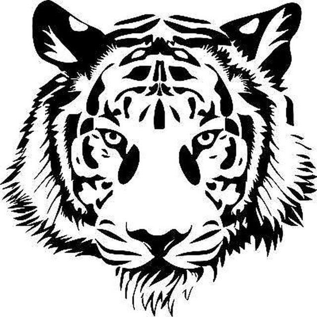 20x20 cm powerful tijger hoofd motorcycle vinyl decal auto sticker persoonlijkheid auto-styling s6-2033