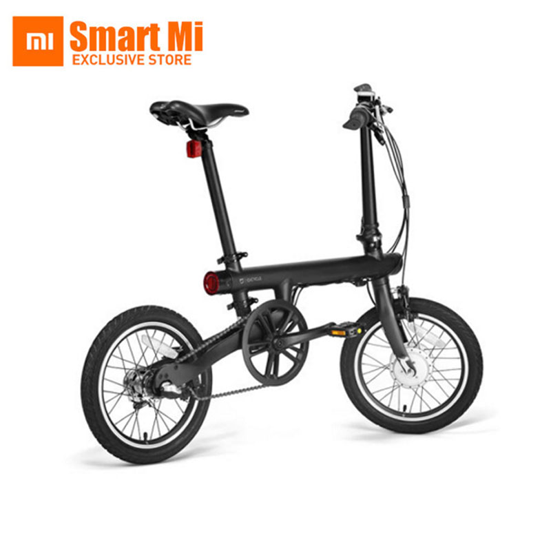 "Genuine xiaomi smart electric bicycles bike portable mijia Qicycle e bike foldable pedelec ebike 18"" TFT screen monitor vehicle"