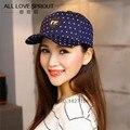 Moda Gorras de Marca versión Coreana del 2016 de lana de Béisbol de Las Mujeres Caps warm winter cap nuevo hueso punto directo de fábrica lote Scn