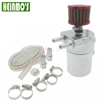 Free Shipping Aluminum Baffled Oil Catch Can Reservoir Tank Oil Catch Tank With Mini Filter For