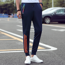 Mens Casual Pants 2019 Autumn Trousers Men Slim Fit Sweatpants Cotton Jogger Striped Bodybuilding Gyms Sportswear