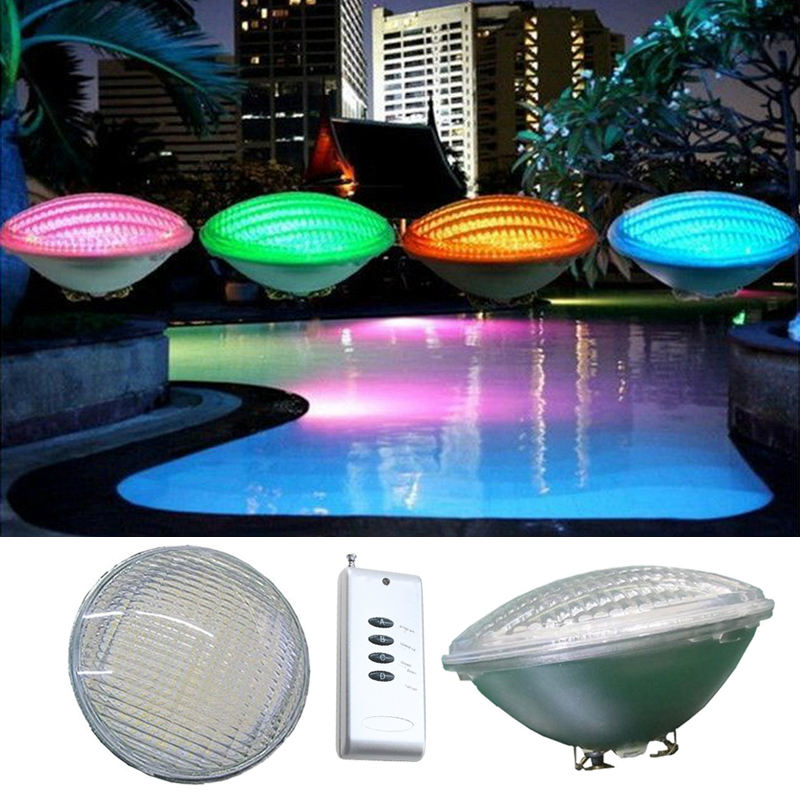 Led Par56 Pool Light 54w 12v 24v Rgb Ip68 18led Swimming Pool Light Outdoor Lighting Underwater Pond Light Led Piscina Ce Rohs rgb 300mm 513 led swimming pool light 316l stainless 12v resin filled 18 24 35w swimming pool pond led light lamp