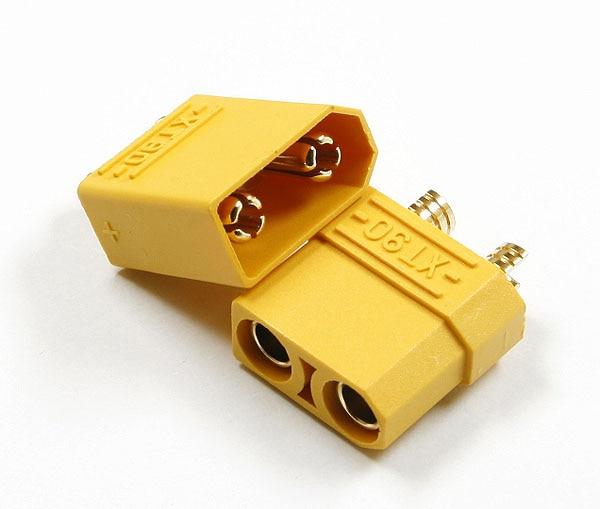 5 Paar / 10 stks Hoge Stroom XT90 4.5mm Goud Geplooid Banaanstekker - Radiografisch bestuurbaar speelgoed