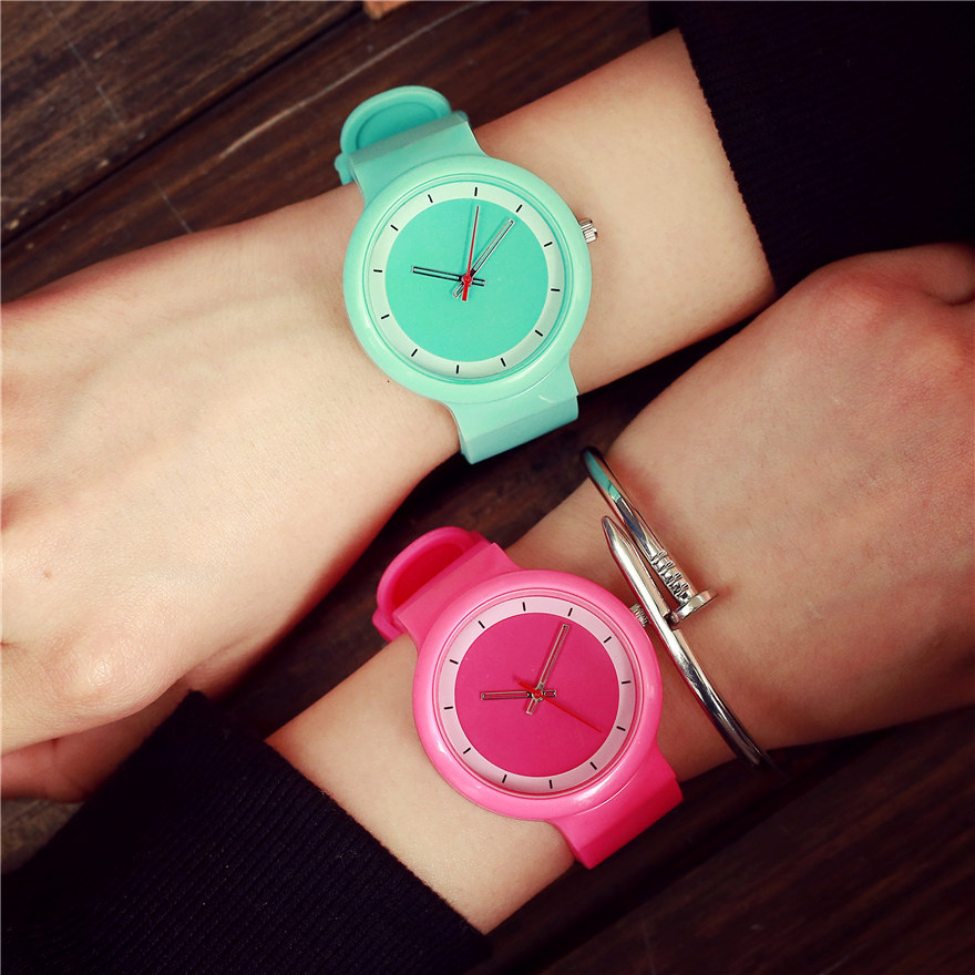 New Fashion Famous Brand Cute Women Silicone Watch Ladies Quartz Casual Watch student Jelly Wristwatch Female Dress Clock Hours concept of vortex female student individuality creative watch han edition contracted fashion female table