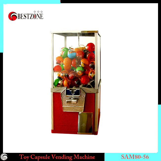 Candy Toy Vending Machine With Metal Construction And