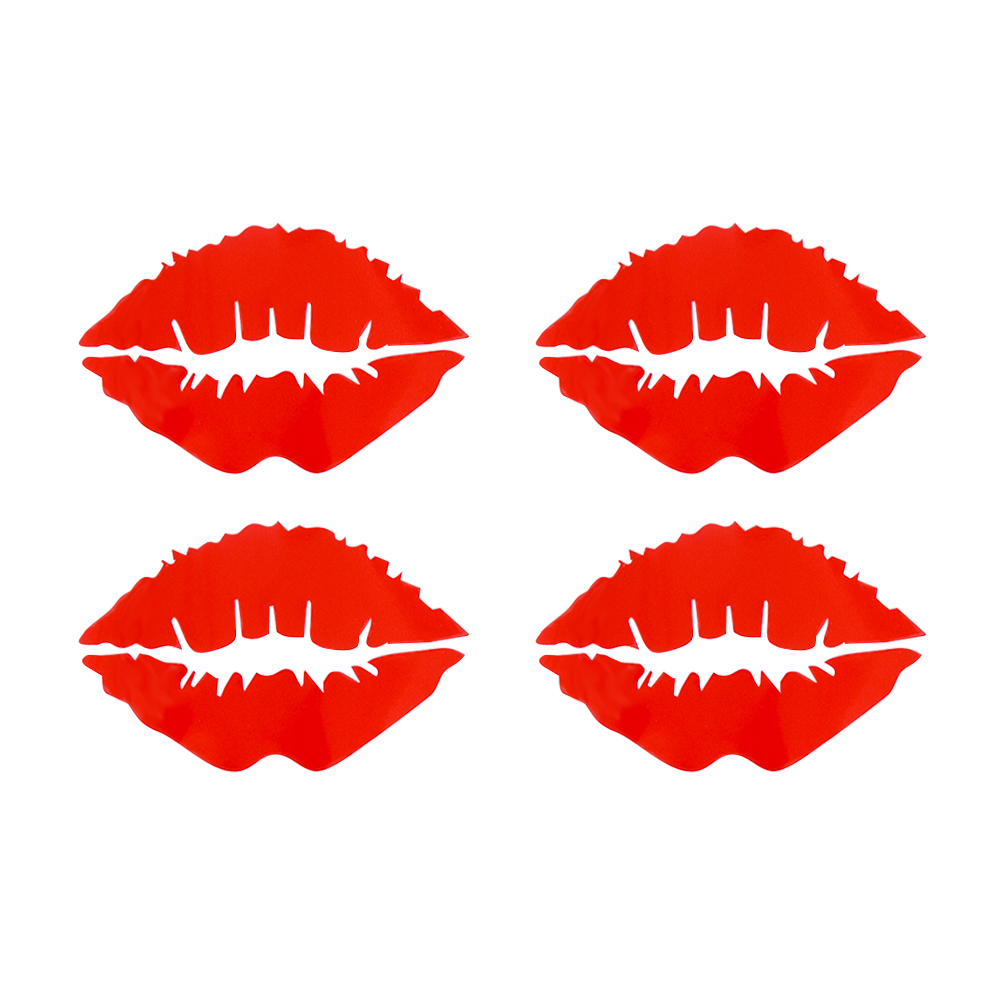 Red lips kiss Stickers For Auto Car/Bumper/Window Vinyl Decal Sticker Decals DIY Decor Car Styling
