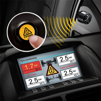 Car TPMS Real time Remote Monitoring Controlling Button Operation In dash TP 05 Tire Pressure Monitoring System