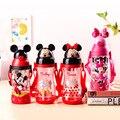 Disney per bambini premere il manico della tazza del bambino con paglia a prova di perdite tazza di plastica di vibrazione studente resistenza a cadere bollitore