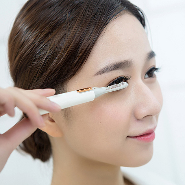 PRITECH Electric Eyelash Curler Pen Battery Powered Longer Thicker Eye Lash Curling Enhancer Makeup Tool Dropshipping #LD-7006 5
