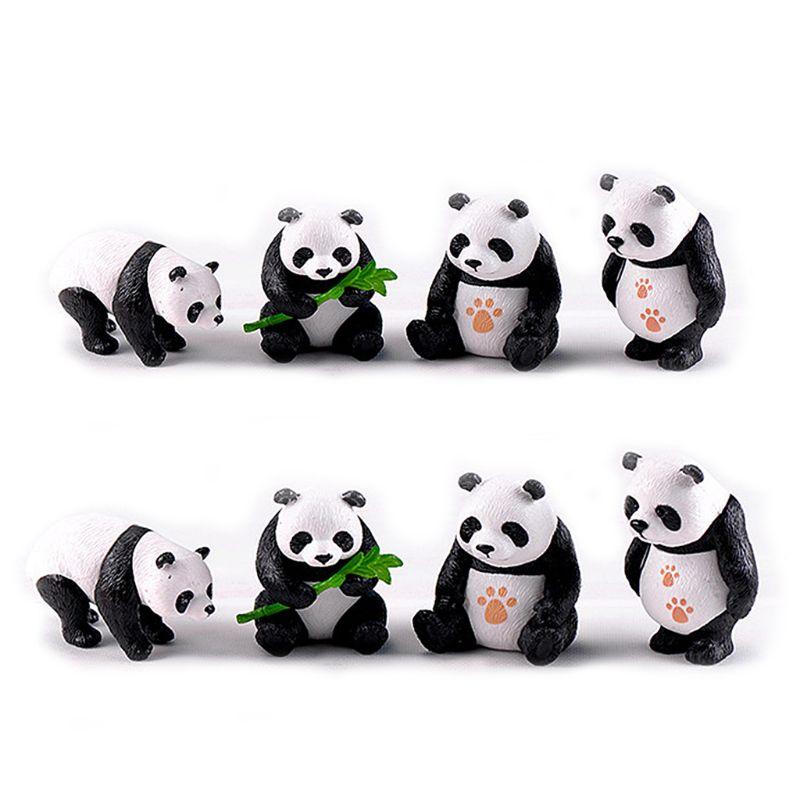 Статуэтки, миниатюрные полимерные панды, садовые растения, цветочный горшок, бонсай, украшение для кукольного домика, аксессуары для украше...