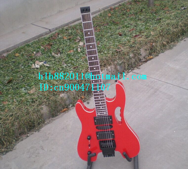 new left-hand headless electric guitar in black with mahogany body+EMS free shipping+foam box LL-42