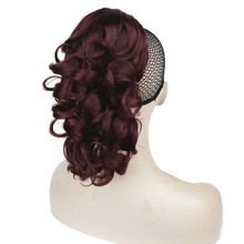 Strong Beauty 21 Color Synthetic Medium Curly  Ponytail Hairpiece Extension EXTRa Layered Claw CLip in/on Hair Piece