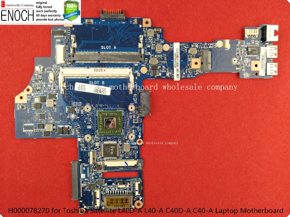 H000078270 for Toshiba Satellite L40D-A L40-A C40D-A C40-A Laptop Motherboard AM6310 CPU CA10AN store No.417