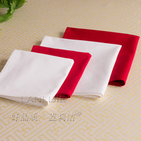 12pc red white 100%cotton hotel restaurant napkin 48cm*48cm