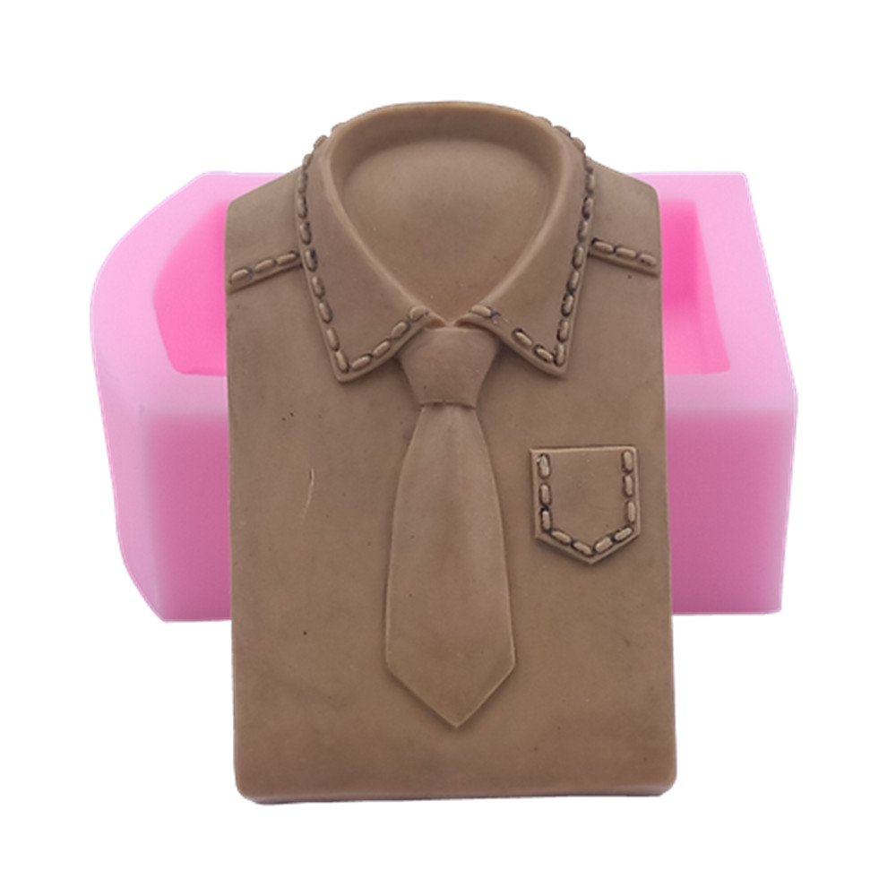 New T-shirt Tie Design Soap Molds Cake Fondant Mold 3D Silicone Molds For Soap Making