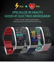 Sports smart bracelet E08 heart rate blood pressure ECG+PPG fitness tracker waterproof watch for iphone huawei xiaomi samsung