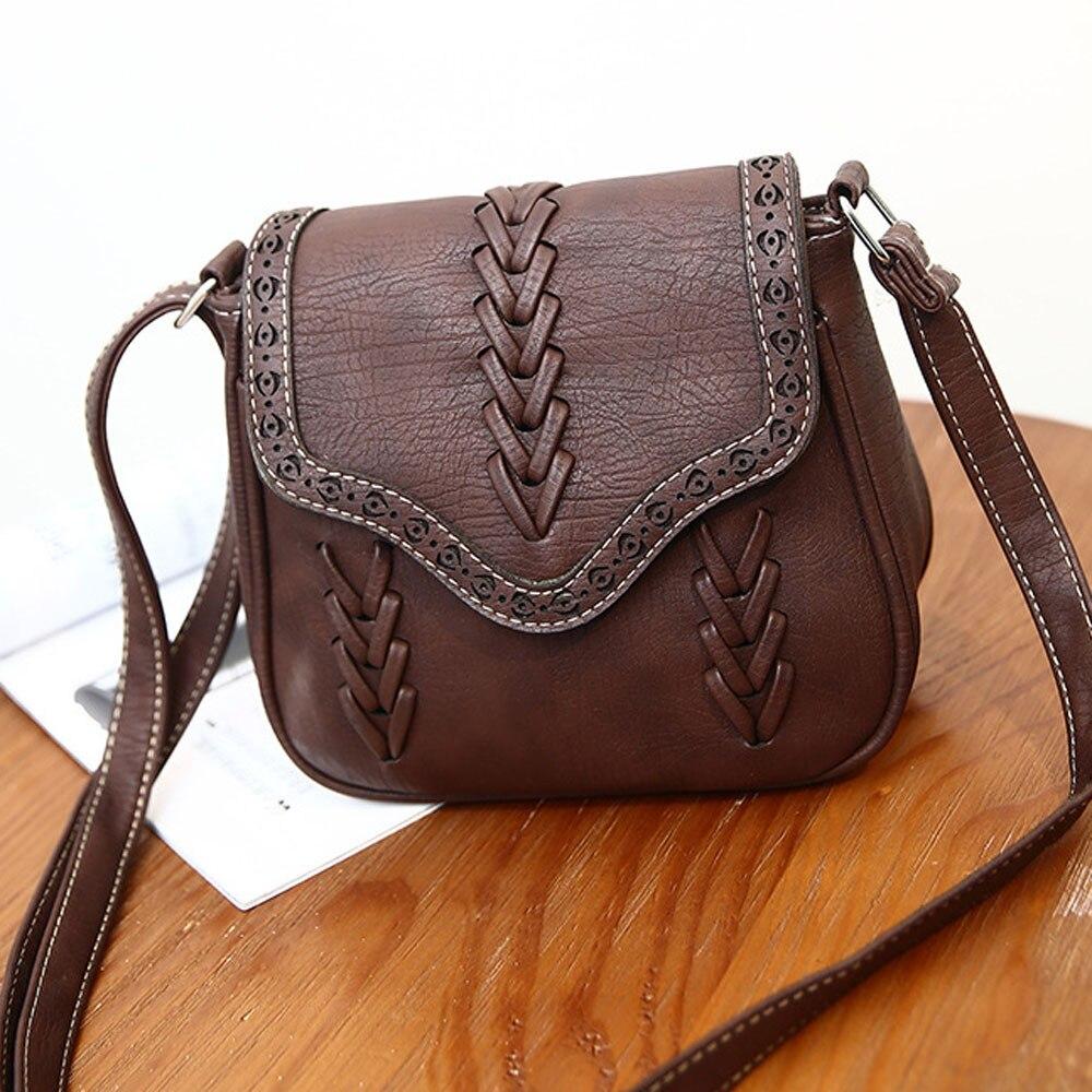 Women S Handbags Las Bag Leather Purse Bolsa Feminina Weave Vintage Small Shoulder Messenger Crossbody Tote 2018new Gift In Bags From
